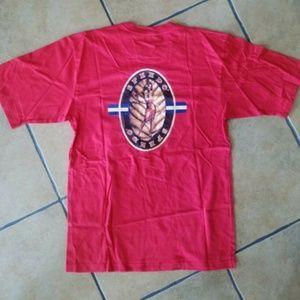 Speedo Mens Graphic Red T-Shirt Sz. LARGE Tiki
